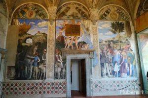マンテーニャによる新婚の間のフレスコ画