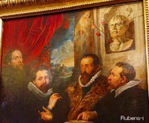 イタリア留学時代をなつかしんでいるかのようなルーベンス『4人の哲学者』