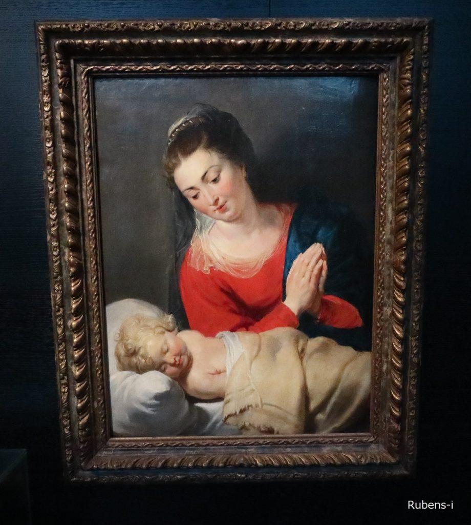 ルーベンス『Maria in aanbidding voor hetslapende Jezuskind』スナイデルス・ロコックス邸