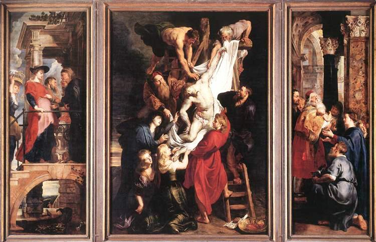 キリスト降架 1611-14年 アントウェルペン 聖母大聖堂